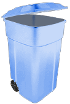 Light blue bin