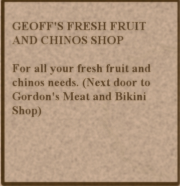 Geoff's Fresh Fruit and Chinos