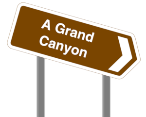 Sign to Grand Canyon