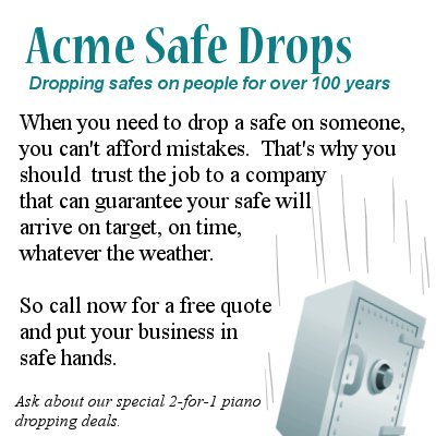 Acme Safe Dropping