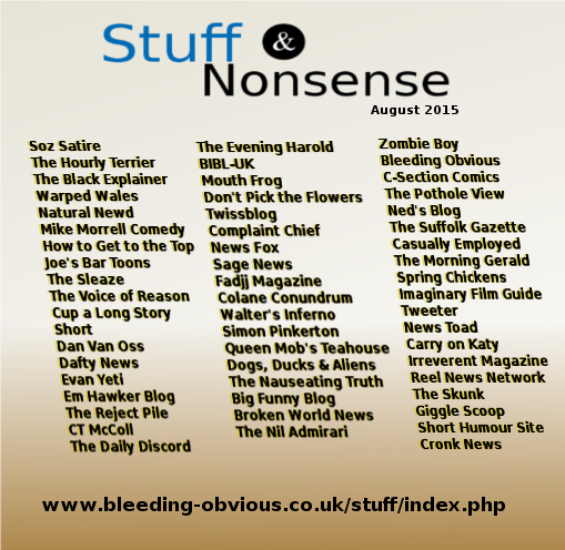 Stuff and Nonsense - August 2015